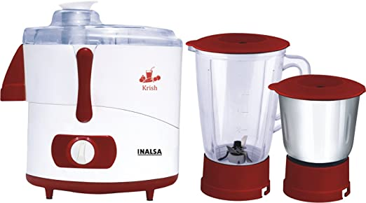 Inalsa Krish JMG Juicer Mixer and Grinder Electronic with 2 Jars 3 Speed 2 Year Warranty 500 Watts Powerful Motor With Safety Features at amazon