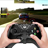 Xbox One Mini Steering Wheel, Xbox One Controller Add-on Replacement Accessories for All Xbox Racing Game (Black) (Color: Black)
