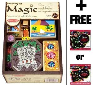 Melissa & Doug Discovery Magic Set + FREE Melissa & Doug Scratch Art Mini Pad Bundle