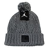 ジョーダン ニットキャップ NIKE JORDAN (ナイキ ジョーダン) ユニセックス ニットキャップ ジャンプマン ボンボン付き ニット帽 帽子 (GREY グレー) 801768-065