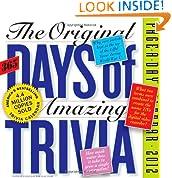 Original 365 Days of Amazing Trivia 2012 Calendar