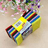 SODIAL- Clean cloth dishcloth rag cleaning cloth cloth 10 pcs random color