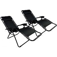 Case Of 2 Zero Gravity Lounge Patio Chairs