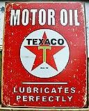 Texaco Motor Oil Lubricates Perfectly Distressed Retro Vintage Tin Sign