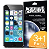 "iPhone 6 Screen Protector 4.7 "" - Invisible Defender [3+1 Free/MAX HD CLARITY] iPhone 6 Screen Protector 4.7 "" Lifetime Warranty Perfect Touch Precision High Definition (HD) Clarity Film (4-Pack) for Apple iPhone 6 4.7 Inch"