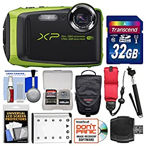 Fujifilm FinePix XP90 Shock & Waterproof Wi-Fi Digital Camera with 32GB Card + Case + Battery + Selfie Stick + Float Strap + Kit