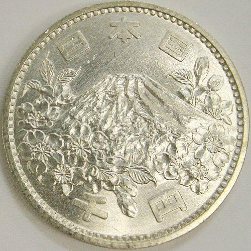日本 東京オリンピック千円銀貨極美(CJ1S40094)