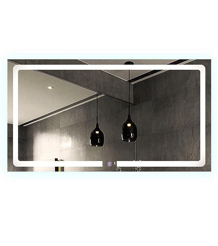 Specchio rettangolare LED Anti Appannamento, con tasto Sensitive Noha illuminazione caldo e freddo 80cm 100cm 120cm 150cm, Chaude, 100_x_60_cm