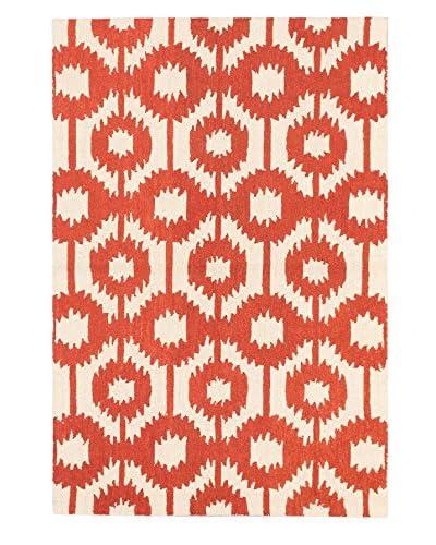 Handmade Eden Wool Rug, Cream/Dark Copper, 5' x 7' 6