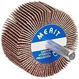 Merit Super Finish Mandrel Mounted Mini Grind-O-Flex Abrasive Flap Wheel, Round Shank, Ceramic Aluminum Oxide