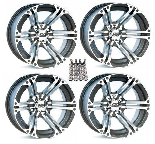 4 STI HD3 ATV Wheels//Rims Black 14 Honda Rincon Yamaha Rhino Kawasaki Brute Force Suzuki KingQuad