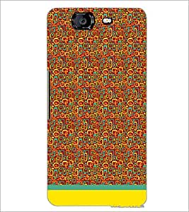PrintDhaba Shapes Pattern D-1505 Back Case Cover for MICROMAX A350 CANVAS KNIGHT (Multi-Coloured)