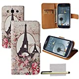 Xhorizon® Circus Colour Rose Flower Style PU Leather Case Cover For Samsung Galaxy S3 III i9300 w/ Stylus + Cleaning Cloth