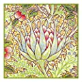 Artichoke by Arts and Crafts Movement Founder William Morris Counted Cross Stitch Chart