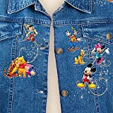 Disney Character Embroidered Art Denim Jacket: The Magic Of Disney