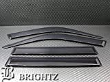 BRIGHTZ ランクル 80 81 最高級 サイドバイザー 金具付   ランドクルーザー HZJ81V HDJ81V FZJ80G FJ80G バン ワゴン 1679