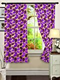 "Cenizas Fancy Polyster Window Curtain Set of 2 - 60""X48"", - Purple (CURT-N0009)"