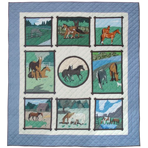 Twin Horse Comforter front-581299