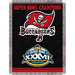 "Tampa Bay Buccaneers NFL Super Bowl Commemorative Woven Tapestry Throw (48""x60"")"