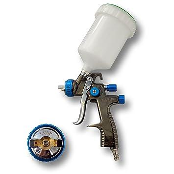 Lackierpistole Mini HVLP 2er Pack 0,8 mm 1,4 mm Spritzpistole für Autolack Set