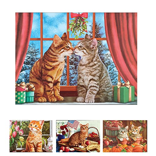 Seasonal Cats Dishwasher Magnet Set (Dishwasher Magnet Cat compare prices)