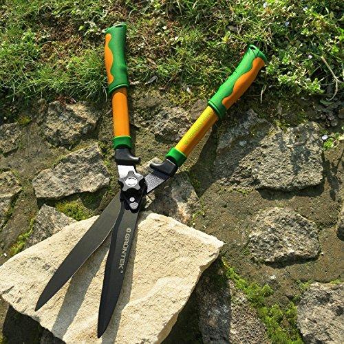 gruntek-hedge-shears-garden-shears-pike-hecht-560-mm-teflon-shrub-shears-with-serrated-edge-and-doub