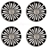 CITROEN C3 (0+) QUALITY WHEEL TRIM SET TREND BLACK SILVER 14 INCH