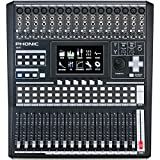 Phonic IS16 16-Input 8-Bus Digital Mixing Console with Color Touch Screen and VGA Output