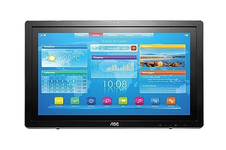 """AOC A2272PW4T/BK Smart All-in-One Ecran PC LED 21,5"""" 1920 x 1080 5 ms VGA/HDMI Noir/Argent"""