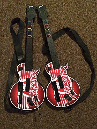 custom-bundle-of-2-aerosmith-guitar-hero-controllers-for-nintendo-wii