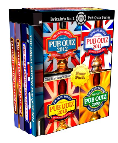 The Great British Interactive Pub Quiz - Four Pack [Interactive DVD]