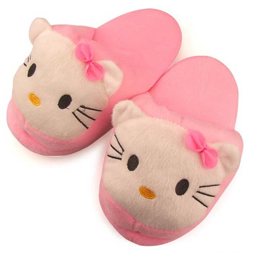 Hello Kitty Plush Warm and Cotton Slippers