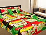 Shop 24 Decor 250 TC Cotton Double Bedsheet with 2 Pillow Covers - Multicolor