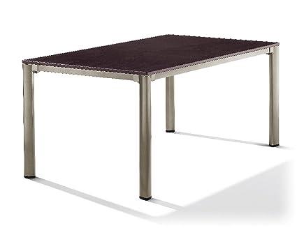 Sieger 1780-60 - Mesa exclusiva con puroplan-placa de 165 x 95 cm, champán marco de aluminio, tablero de la mesa decoración pizarra mocca