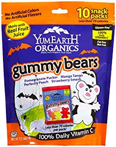 YumEarth Organic Halloween Gummy Bears, 7 Ounce