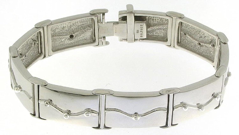 Wunderschönes 925 Sterling Silber (Rhodiniert) Diamant Armband Brillant-Schliff 0.18 Karat G-VS – 20cm, 51 Gramm günstig