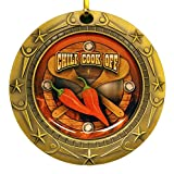 Chili Cook-Off World Class Medal with Red, white & blue v-neck ribbon / Chile Cook Off