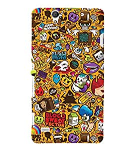 EPICCASE blood and sweat Mobile Back Case Cover For Sony Xperia C4 (Designer Case)