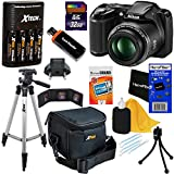 Nikon COOLPIX L330 20.2 MP Digital Camera with 26x Zoom NIKKOR Lens & Full HD 720p Video Recording - Black (Import) + 4 AA High Capacity Batteries with Quick Charger + 9pc Bundle 32GB Deluxe Accessory Kit w/ HeroFiber® Ultra Gentle Cleaning Cloth