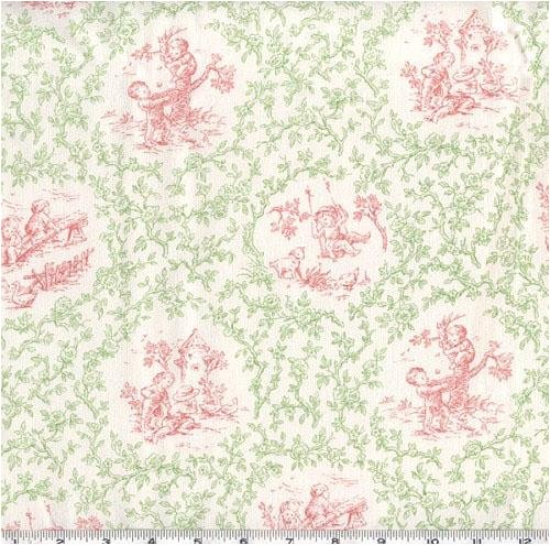 P Kaufmann Toile Andy's Gang Green/Pink