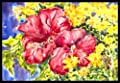 Caroline's Treasures Flower Hibiscus Indoor or Outdoor Doormat