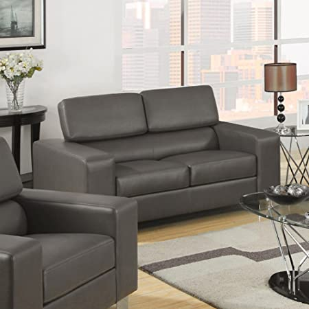 Furniture of America Lawrence Bonded Leather Match Loveseat