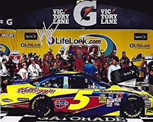 AUTOGRAPHED 2009 Mark Martin #5 MICHIGAN WINNER (Lifelock 400) NASCAR 8X10 SIGNED... by Trackside Autographs
