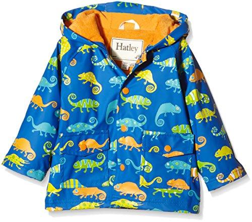 Hatley Baby Crazy Chameleons Infant Raincoat, Blue, 18-24 Months
