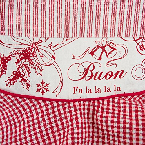 DII 100% Cotton, Holiday Women Cute Ruffle Apron, Kitchen Basic, Adjustable Neck & Waist Ties, Cooking, Baking, Crafting and More, Christmas Gift - Vintage Christmas 3