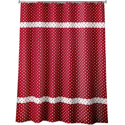 Dots Fabric Shower Curtain Red Review
