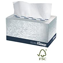 "Kimberly-Clark Kleenex 01701 1-Ply Hand Towel, 9"" Width x 10.5"" Length, White (18 Boxes of 120)"