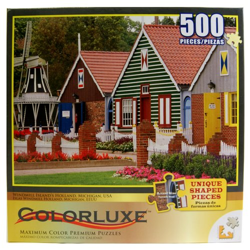 61XrIdRcrOL Cheap  Colorluxe Windmill Island Holland Michigan USA 500 Pieces Puzzle