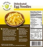 Legacy Essentials Dehydrated Egg Noodles: Bulk, Long Shelf Life Emergency Survival Pasta - Great for Ingredients, Food Storage Supply, More (6 Pouces in Bucket)