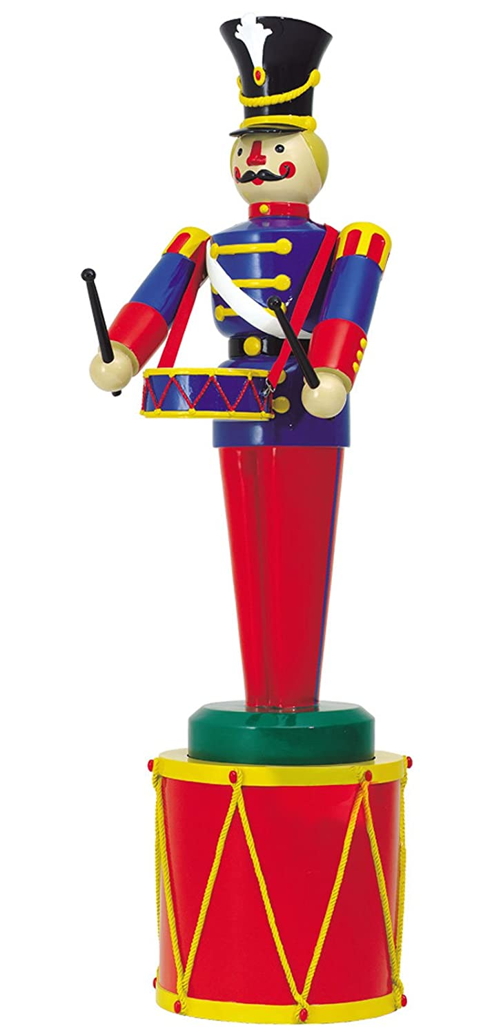 Large Life Size Soldier with Drum and Drum Base Outdoor Christmas Decorations